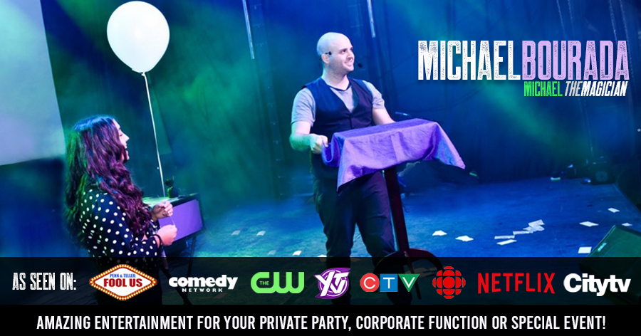 Ottawa Magician, Michael Bourada with card tricks
